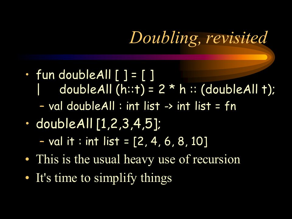 Doubling, revisited doubleAll [1,2,3,4,5];